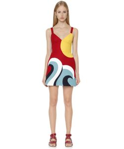 Red Valentino | Intarsia Cotton Cady Mini Dress
