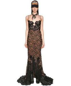 Dsquared2 | Платье Из Шифона С Принтом И Вышивкой