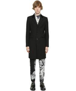 Alexander McQueen | Пальто Из Шерстяного И Шёлкового Дрилл