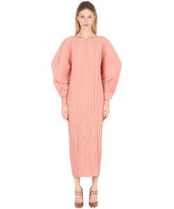 Jil Sander | Платье Из Плиссированного Шёлкового Крепа
