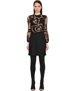 Elie Saab | Платье Из Крепа И Кружева