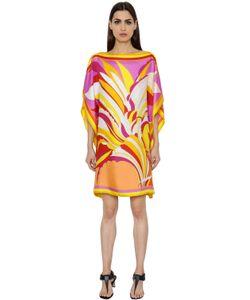 Emilio Pucci | Flowers Printed Silk Twill Tunic Dress