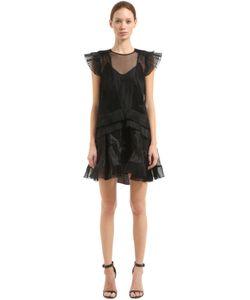 Isabel Marant   Платье Из Органзы С Рюшами