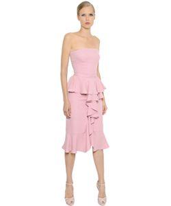 Alexander McQueen | Платье Из Шёлкового Крепа С Рюшами