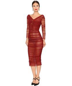 Dolce & Gabbana | Платье Из Хлопкового Стретч Тюля
