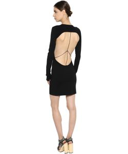 ESTEBAN CORTAZAR | Open Back Ribbed Knit Mini Dress