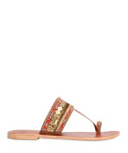 PERCENT | 10mm Fortuna Beaded Leather Sandals