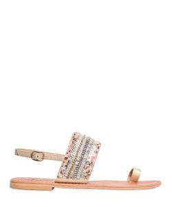 PERCENT | 10mm Feronia Beaded Leather Sandals