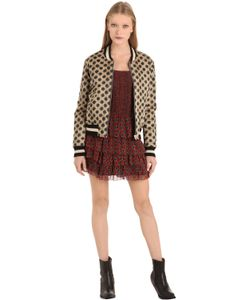 Isabel Marant Étoile | Хлопковая Куртка-Бомбер С Принтом И Вышивкой