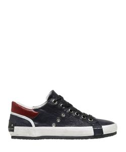 Crime | Washed Leather Sneakers