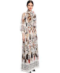 Dolce & Gabbana   Шифоновое Платье С Принтом