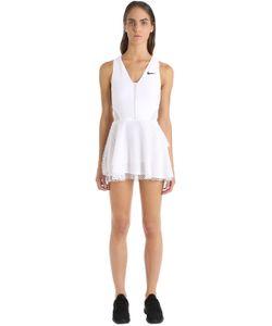 Nike | Платье Для Тенниса С Верхним Слоем В Сетку