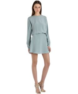 SIRAN | Платье Из Шёлкового Крепа-Марокен