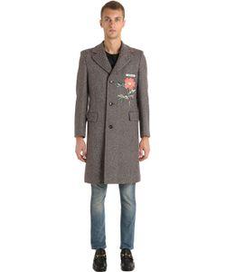Gucci | Шерстяное Пальто С Аппликацией
