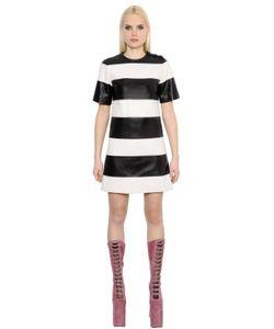 Marc Jacobs | Платье Из Кожи Наппа В Полоску