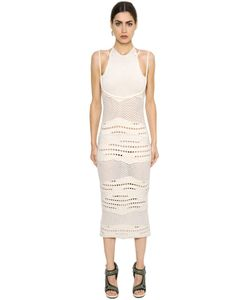 ESTEBAN CORTAZAR | Cotton Knit Crochet Dress