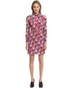 Gucci | Платье Из Шёлкового Дюшес С Принтом
