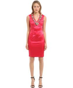 STEFANO DE LELLIS | Атласное Платье С Вышивкой