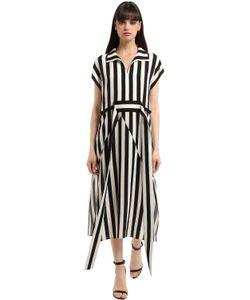 Akris | Платье Из Шёлкового Крепа В Полоску