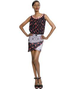 Cher Michel Klein | Платье Из Шелкового Шифона