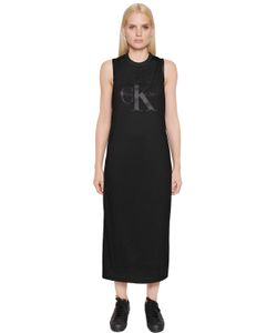 Calvin Klein Jeans | True Icon Jersey Satin Racer Back Dress