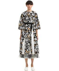Jil Sander | Пальто Из Канвас С Цветочным Принтом