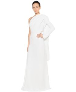 Gareth Pugh | One Sleeve Draped Panel Crepe Cady Gown