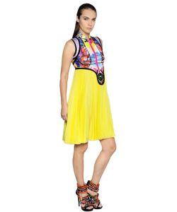 Dsquared2 | Платье Из Шифона И Скуба С Принтом Exotic