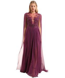 Zuhair Murad | Платье Из Шёлкового Шифона С Вышивкой