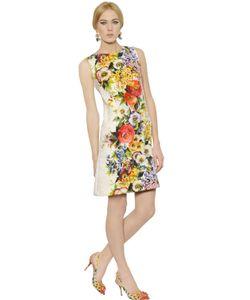 Dolce & Gabbana | Платье Из Хлопка И Шелковой Парчи