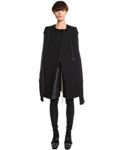 Rick Owens | Boiled Wool Jersey Coat