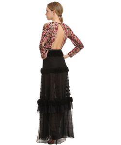 Zuhair Murad | Платье Из Тюля И Шифона С Цветочной Вышивкой