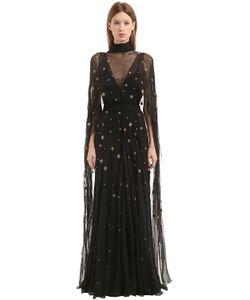 Alberta Ferretti | Платье Из Шёлкового Шифона Со Стразами