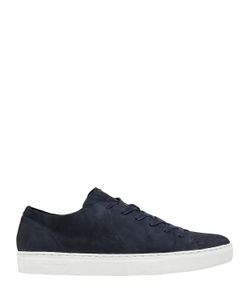 Crime | Laser-Cut Leather Low Top Sneakers