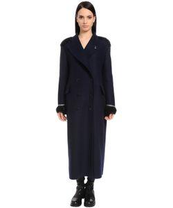 Ermanno Scervino | Шерстяное Пальто Оверсайз С Вышивкой
