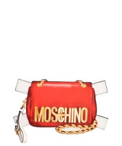 Moschino | Bag Tabs Printed Leather Clutch
