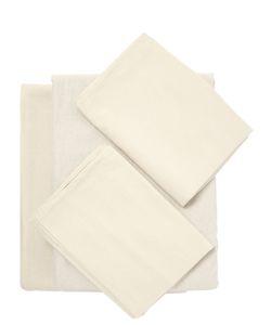 SHUJ   Cotton Linen Duvet Cover Set