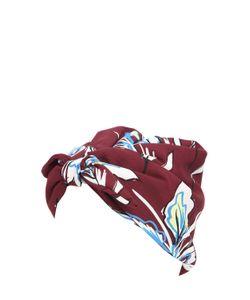 SUPERDUPER   Toknot Printed Crepe Turban
