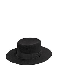 Saint Laurent   Шляпа Из Кроличьего Фетра