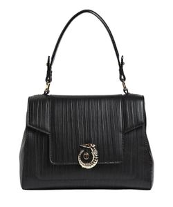 Trussardi | Lovy Embossed Leather Top Handle Bag
