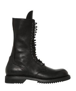Rick Owens   Кожаные Ботинки В Стиле Милитари 30mm