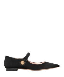 Rochas | Бархатные Туфли Mary Jane 10Мм
