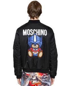 Moschino | Куртка-Бомбер Transformer Из Техногабардина