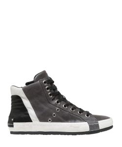 Crime | Washed Leather High Top Sneakers