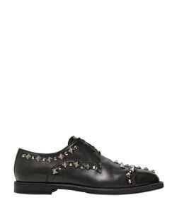 Dolce & Gabbana | Кожаные Ботинки С Принтом