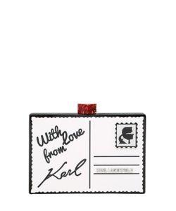 Karl Lagerfeld | Клатч Postcard Из Плексиглас