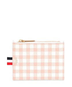 Thom Browne | Small Gingham Printed Grained Coin Purse