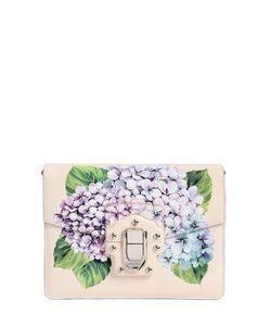 Dolce & Gabbana | Кожаная Сумка Lucia С Принтом Цветов Гортензии