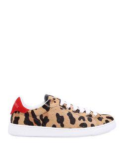 Dsquared2 | Кроссовки Из Кожи С Ворсом И Леопардовым Принтом