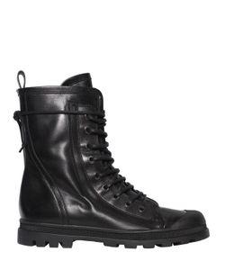 Diesel Black Gold | Кожаные Ботинки-Комбат На Шнуровке